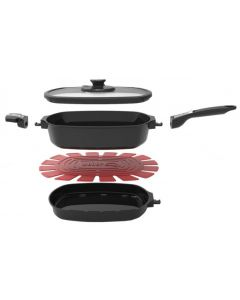 Weber Small Q Ware Casserole/Frying Pan Pack - Black