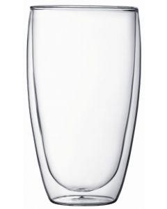 Bodum - Pavina 450mL Double Wall Glass Twin Pack - Transparent
