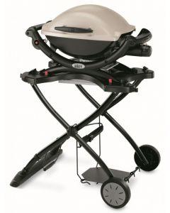 Weber Baby Q Titanium Q1000 LP + Portable BBQ Cart