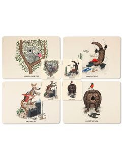 Squidinki Placemats & Coasters Set: Australian Animals
