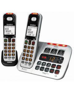 Uniden SSE45+1 Sight & Sound Enhanced Phone System - Silver