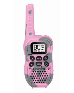 Uniden UH45 80 Channel UHF CB Handheld Radio with Kid Zone - CAMOUFLAGE PINK