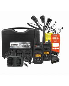 Uniden 80 Channels 2 Watt UHF Handheld Tradies Pack