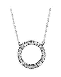 Pandora Hearts of Pandora Silver Necklace Collier w CZ Silver 45cm - 590514CZ
