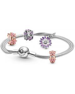 Pandora Mixed Daisy Charm and Bracelet Set