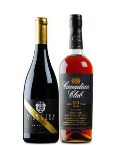 Super Premium McLaren Vale Shiraz and Canadian Club 12YO Whisky 700ml