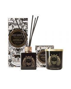 MOR Emporium Classics Snow Gardenia Fragrant Candle 380g and Reed Diffuser 180ml Set