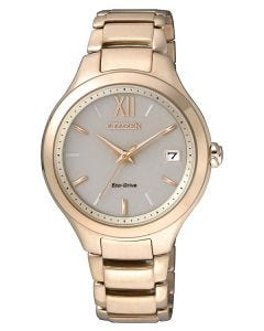 Citizen Ladies Eco-Drive Rose Gold Plated Watch