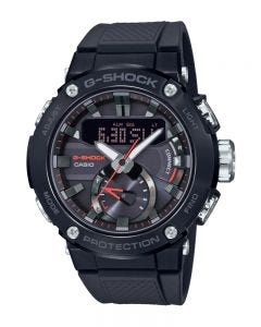Casio G-Shock G Steel GSTB200B-1A Carbon Core Black Watch with Interchanging Band & Bluetooth