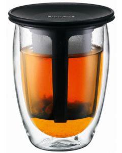 Bodum 350mL Tea For One Double Wall Tea Strainer Glass