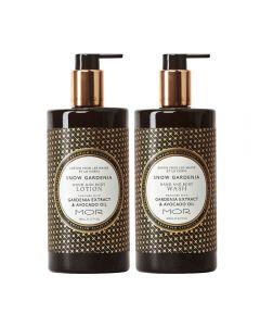 MOR Emporium Classics Snow Gardenia Hand & Body Wash 500ml and Hand & Body Lotion 500ml Set