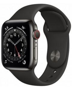 Apple Watch S-6 GPS + Cell 44mm SS Case/ Sport Band