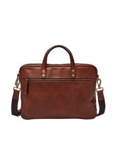 Fossil Mens Haskell Laptop Bag - Cognac - MBG9343222