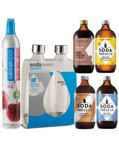 Soda Stream Spare CO2 Pack with Four Flavours